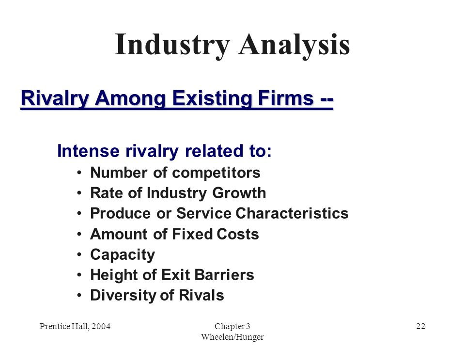 intensity of rivalry among existing firms This model is defined bythe five key forces which are rivalry among the existing firms, threat of new entrants,threat of substitutes, bargaining power of suppliers and bargaining power of customersthe banking industry of sierra leone has over 25 full-fledged banks, 4 regional unit banks, 5financial institutions and 10 bureau change operators.