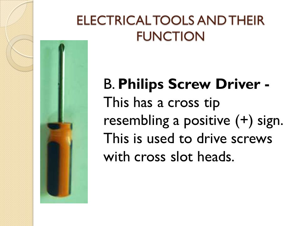Electrical Tester And Their Uses : Electrical tools and its function ppt video online download
