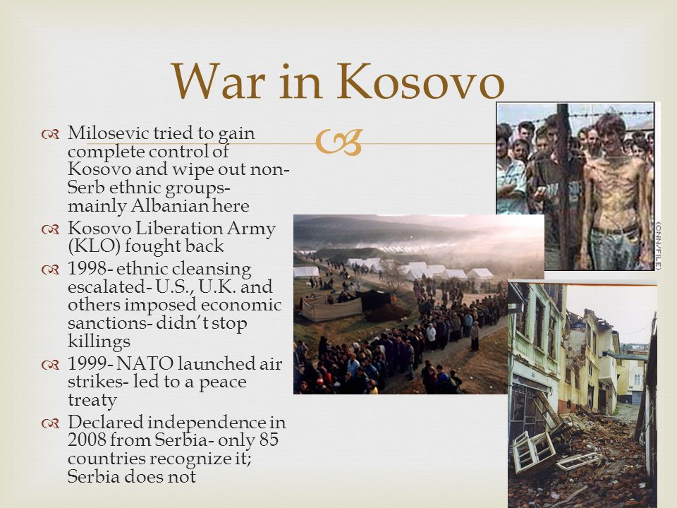 ethnic cleansing kosovo Ethnic cleansing of minorities in kosovo 28 may 2004 on march 31, 2004 the errc sent a letter to special representative of the secretary general of the united nations for kosovo mr harri holkeri, commander of kosovo force lieutenant general holger kammerhoff, kosovo prime minister bajram rexhepi, and european commission president romano prodi.