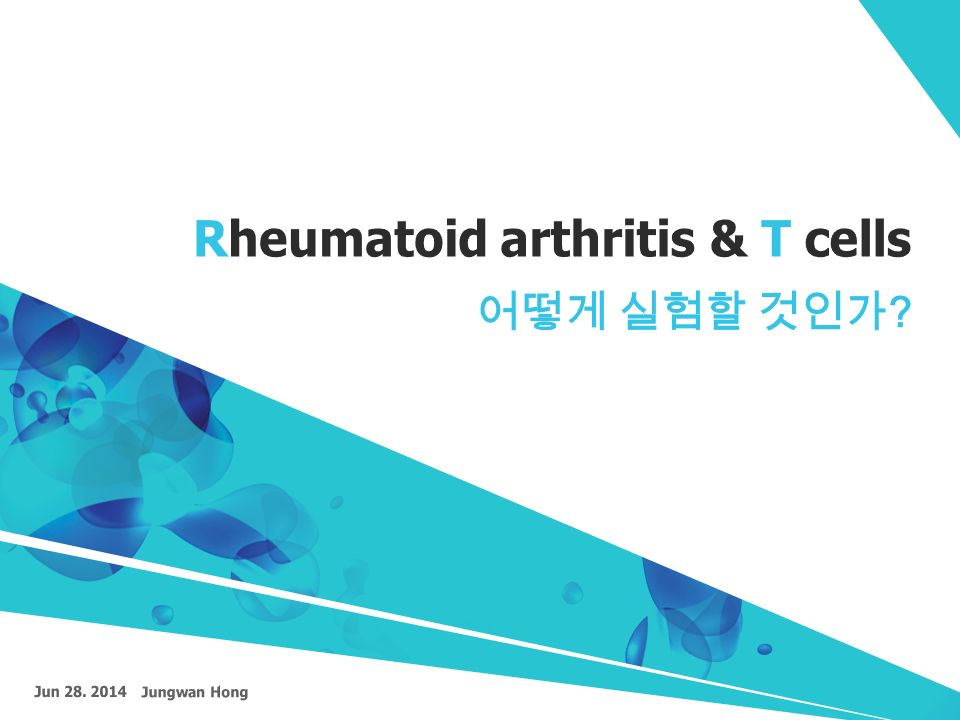 Rheumatoid Arthritis Amp T Cells Ppt Video Online Download