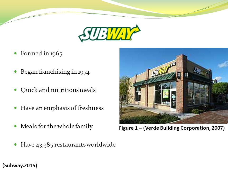 subway franchise case study The subway case study is the first corporate documentary to explore a as the co-founder of the subway franchise deluca is an alumnus of the university of bridgeport and central high school in bridgeport, connecticut food service industry.