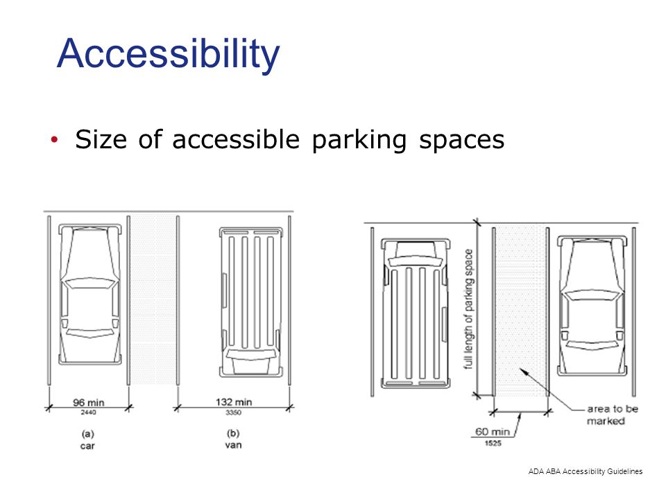 Accessibility Size of accessible parking spaces. Parking Lot Design Civil Engineering and Architecture   ppt video