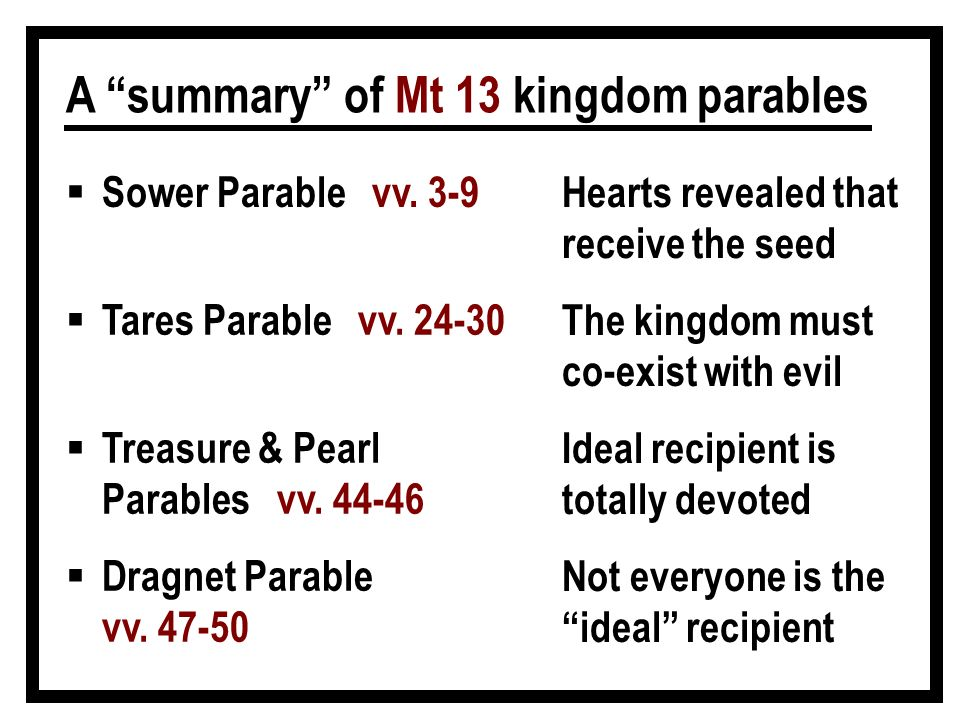 parable of the sower summary pdf