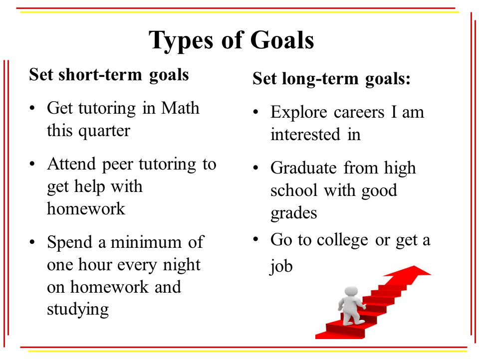 short term goals after high school College students are given fresh opportunities to re-evaluate their short and long-term academic goals how to reach your academic goals set your goals high.