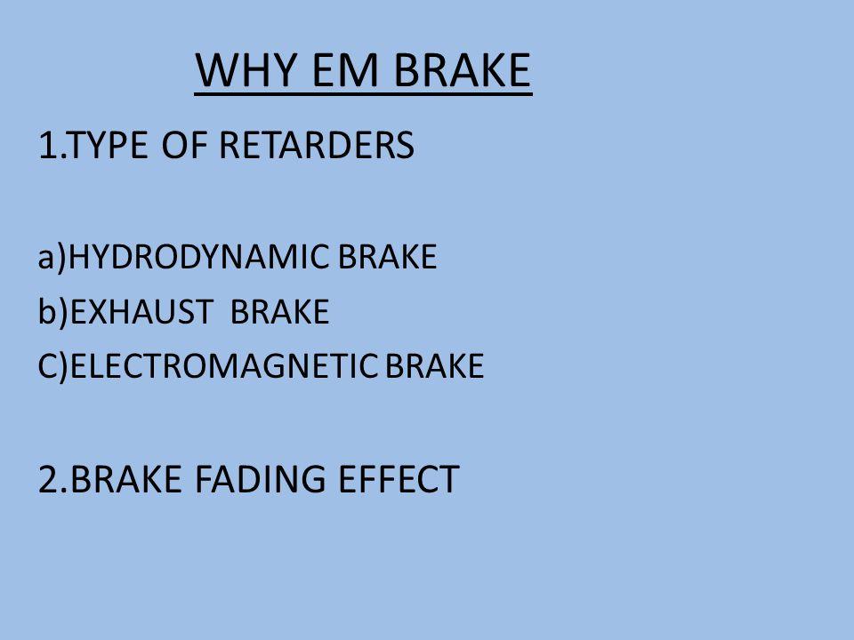 Types Of Brake Fade : Electromagnetic braking system ppt video online download