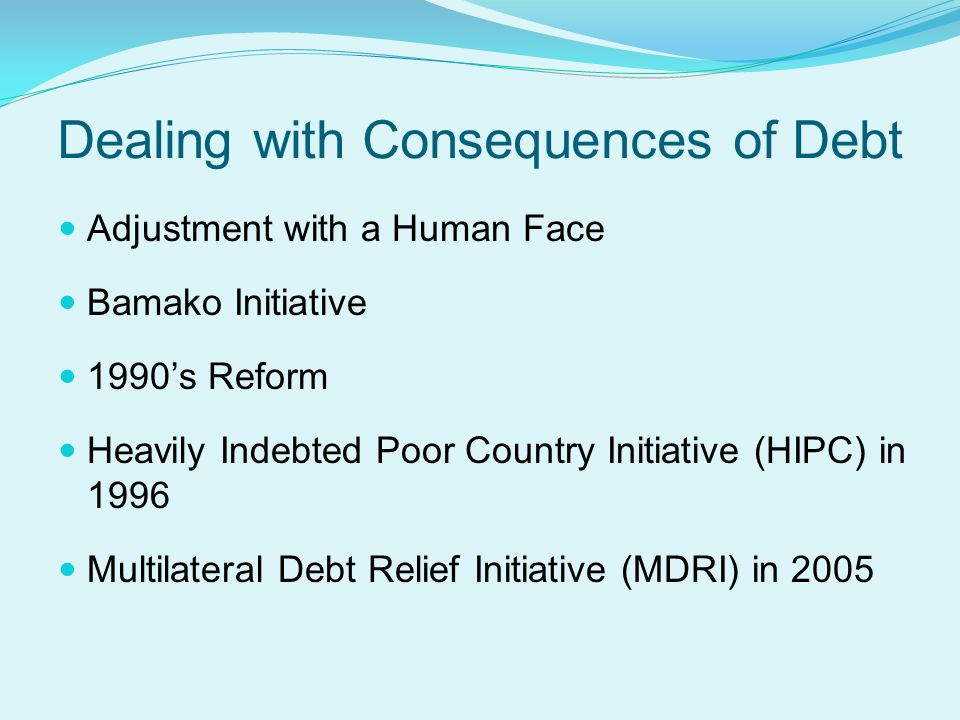 heavily indebted poor countries initiative pdf