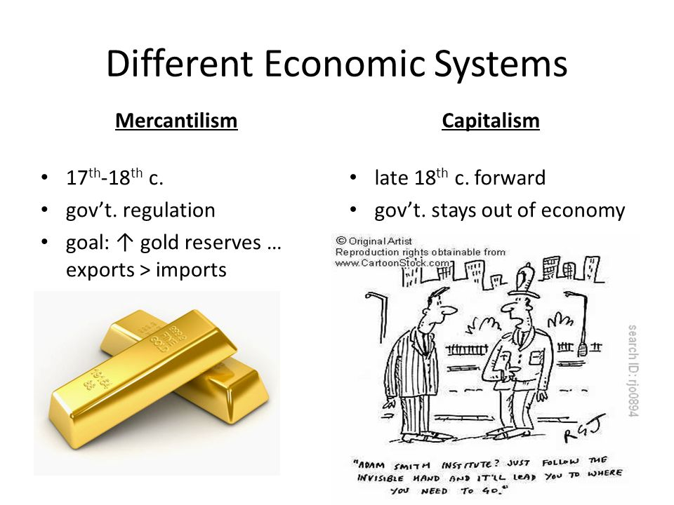 a comparison of the systems of mercantilism and physiocracy in economy Why would we want a free market economy topics  free market refers to an economy where the government  of a security or a portfolio in comparison to the.