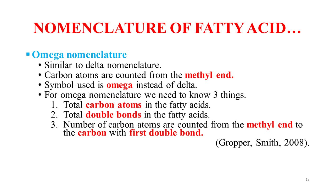 Nomenclature of fatty acids and their classification ppt video nomenclature of fatty acid biocorpaavc Choice Image