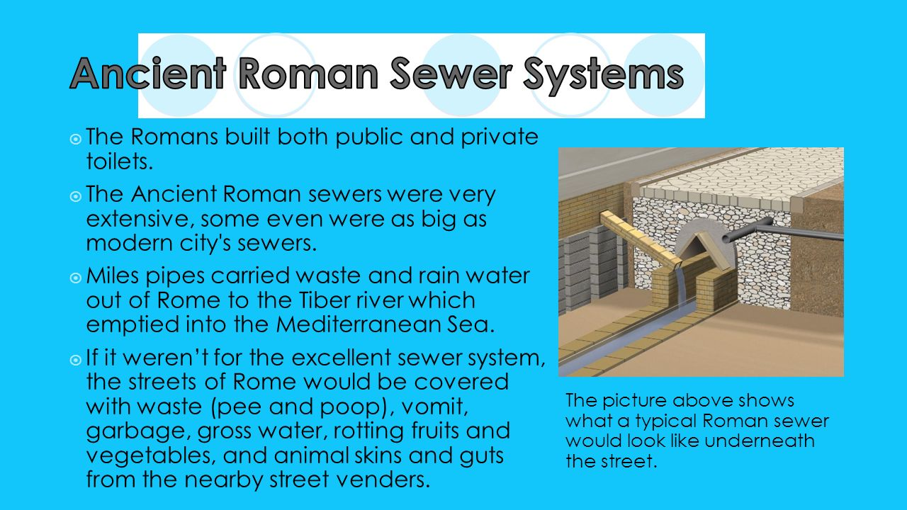 an analysis of the sewer system and roads in ancient rome