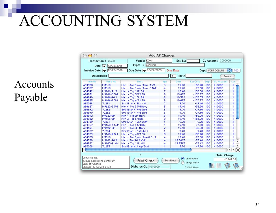 accounts payable system Managing accounts payable boils down to adding an invoice to a log – it can be as simple as an excel spreadsheet – as soon as you receive it when you pay a bill, you should remove it from your current log you probably already have an accounts payable system, however meager if you track in a to-do.