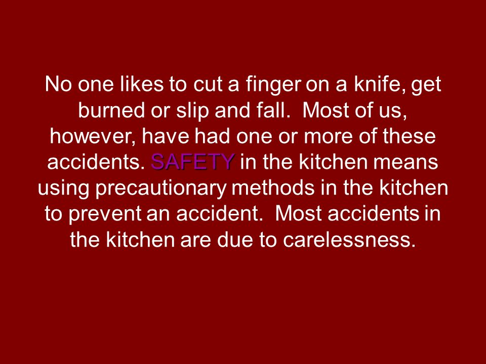 Why is safety in the kitchen important? - ppt video online ...