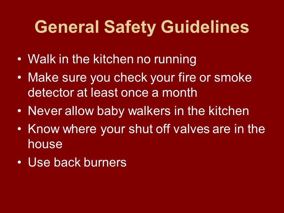 Why Is Safety In The Kitchen Important Ppt Video Online