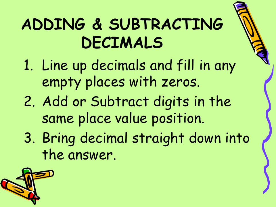 Image result for adding subtracting decimals