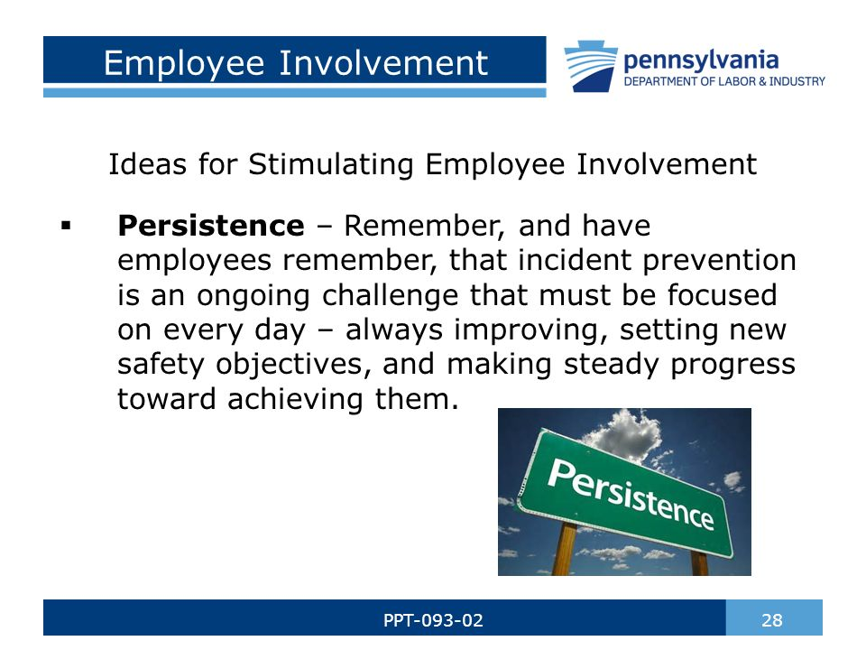 what are the objectives of employee involvement activities Employee relations,participation in industries  employee involvement and participation concept and objectives, forms and  including the job design approaches and special activities such as quality of work life.