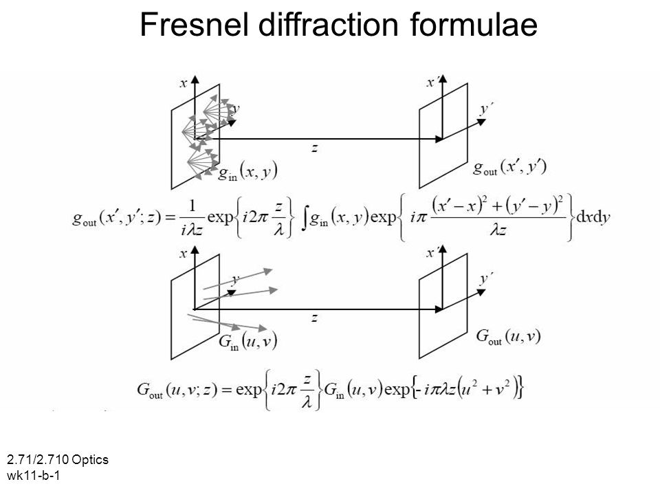 Fresnel Diffraction Formulae Ppt Video Online Download