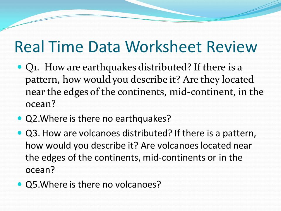Earthquake Notes Warm up ppt download – Earthquakes Worksheet