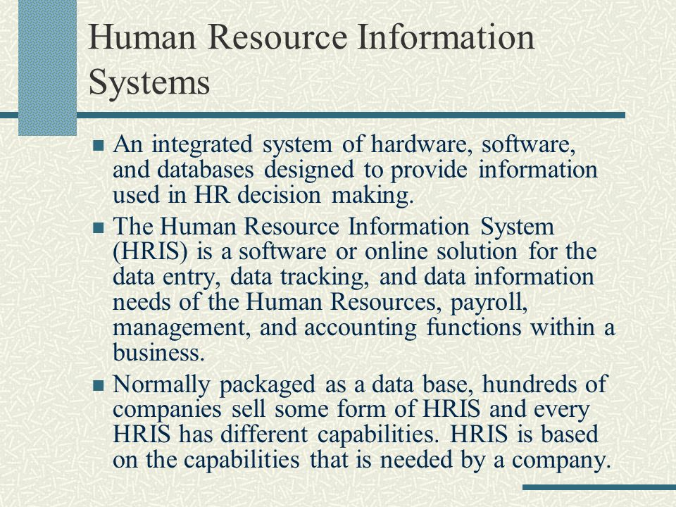 human resources management information system