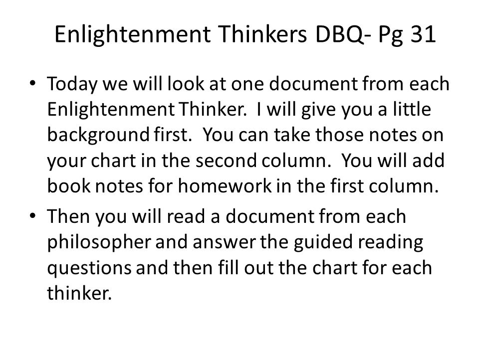 enlightenment philosophers dbq 2012 dbq: the enlightenment the enlightenment known by many as the   voltaire, who was a french author and philosopher, states .