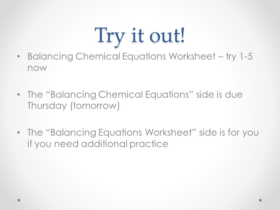 All Grade Worksheets » Balancing Equations Worksheet - Free