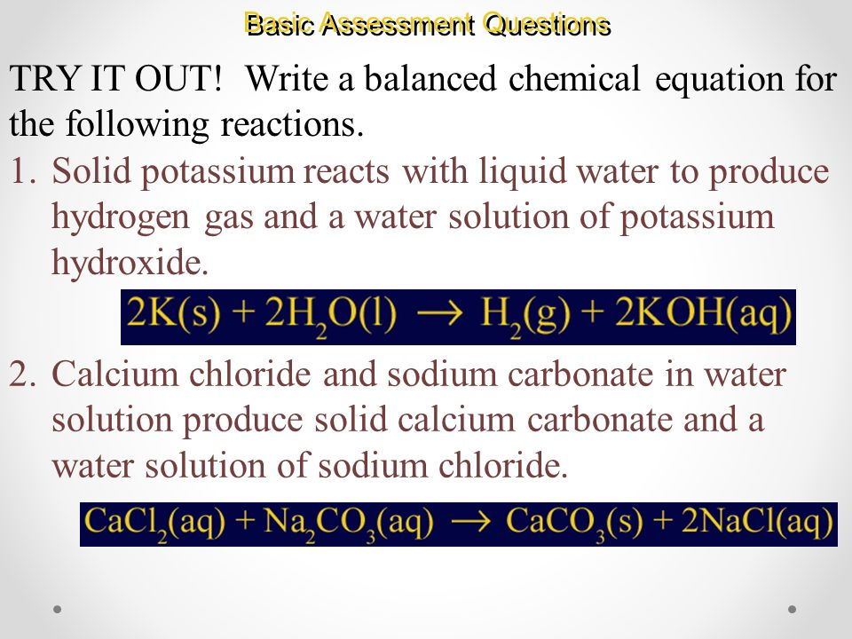 Potassium and Water