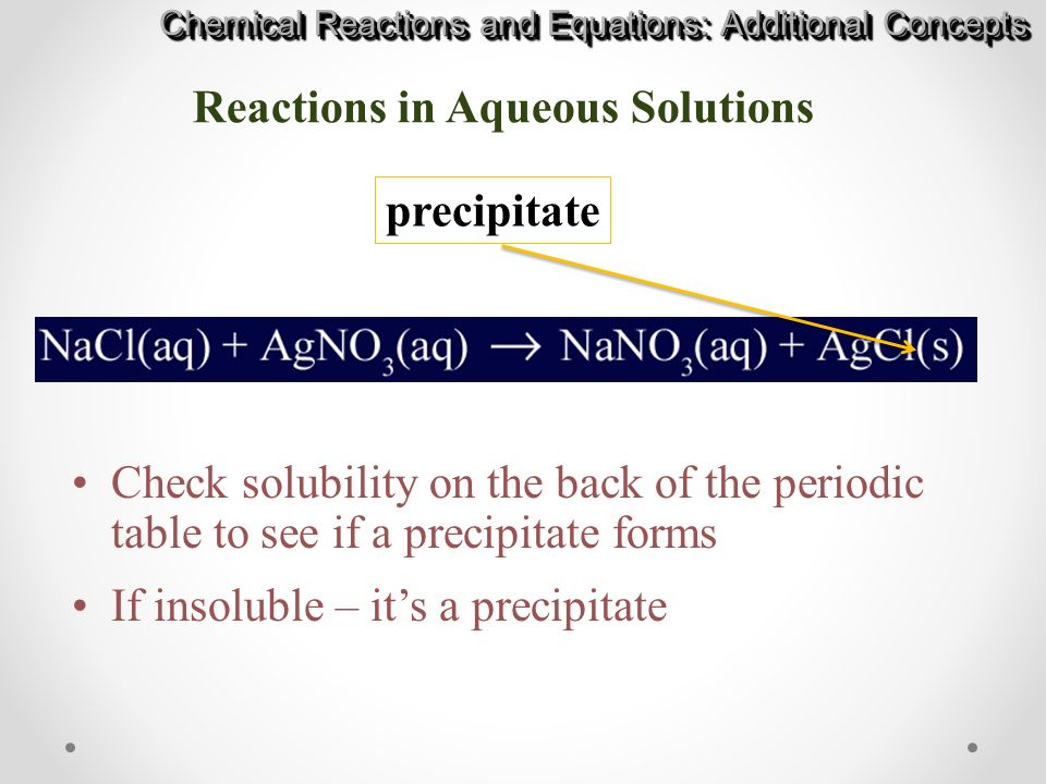 Chapter 10 Chemical Reactions and Equations ppt download – Reactions in Aqueous Solutions Worksheet