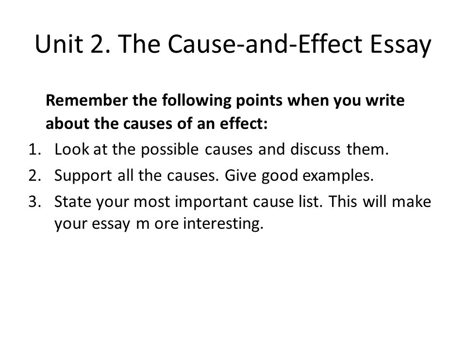 Buy cause and effect essay examples