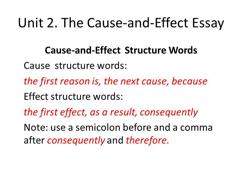 advanced english writing ppt the cause and effect essay