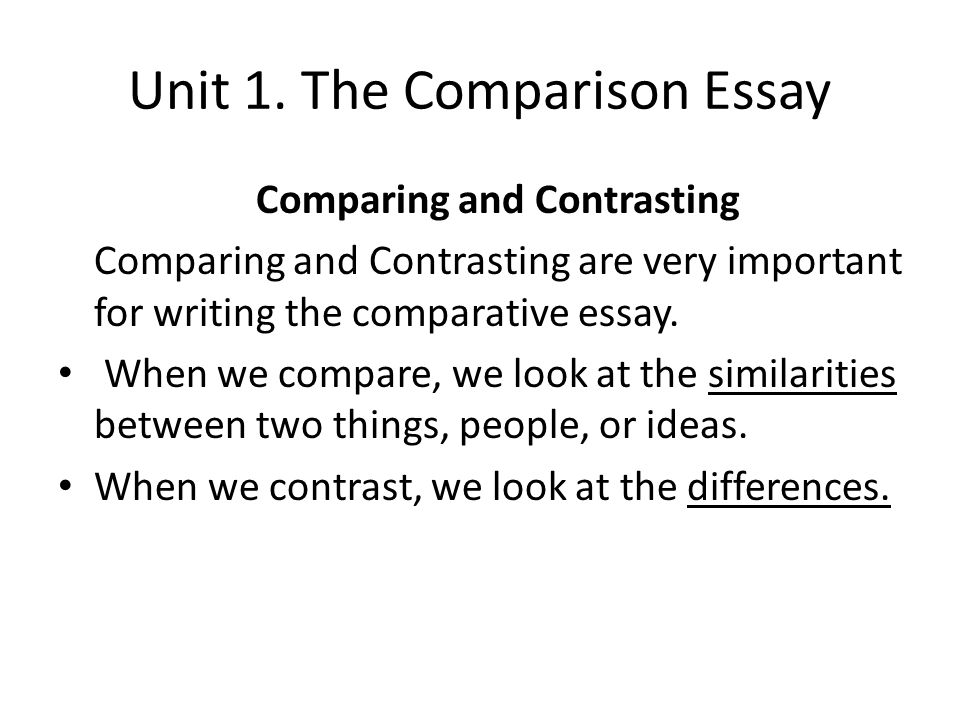 advanced english writing ppt  the comparison essay