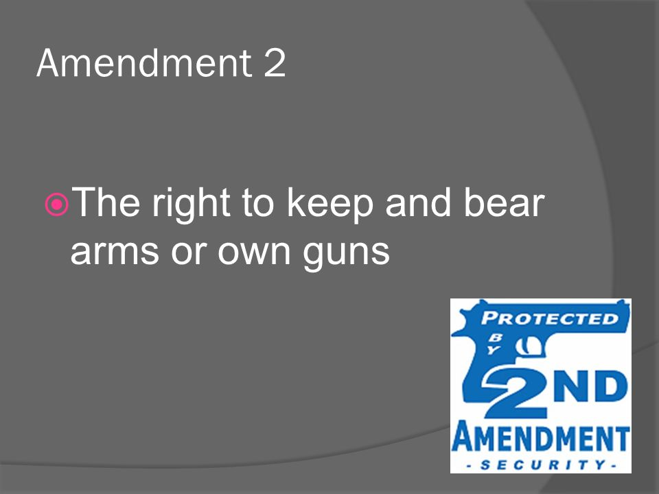 the right to own guns Why should citizens be allowed to own guns september 19, 2013 by aninkling silver,  the question now becomes: is hunting the reason that the constitution gave us the right to own guns.