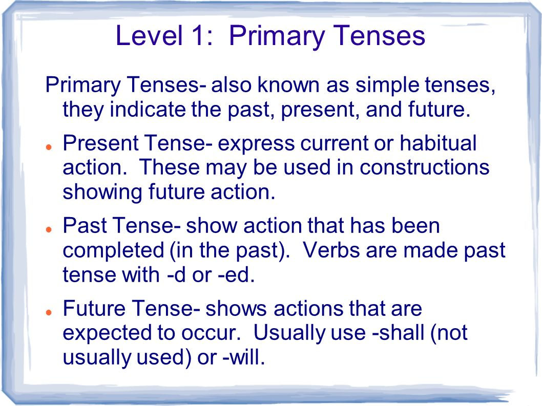 100 simple future tense Writing tenses can be confusing what's the difference between simple and perfect tense writing tenses: 5 tips to get past, present and future right.