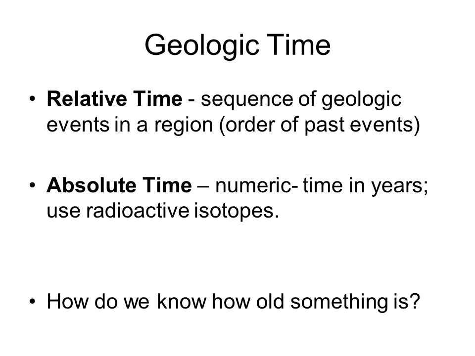 How do geologists use relative hookup answer
