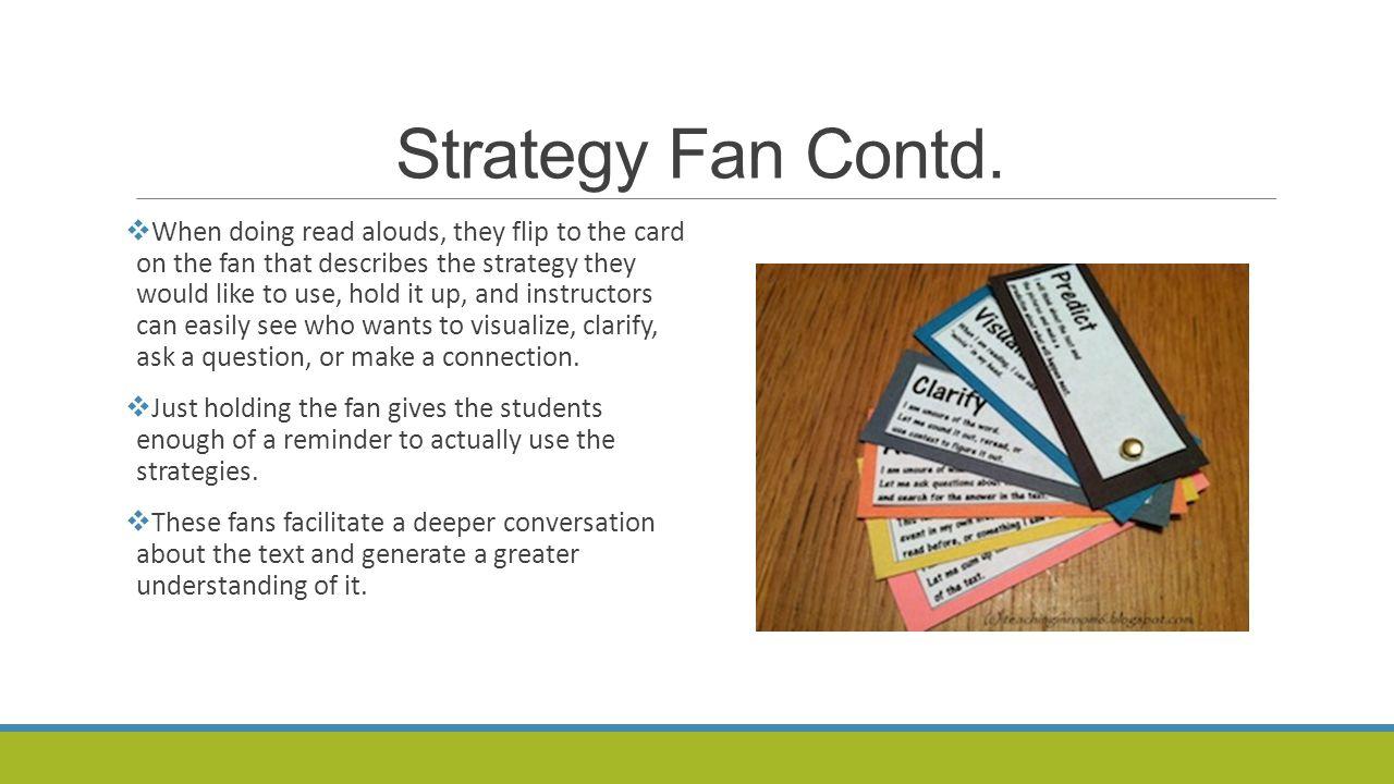 Strategy Fan Contd.