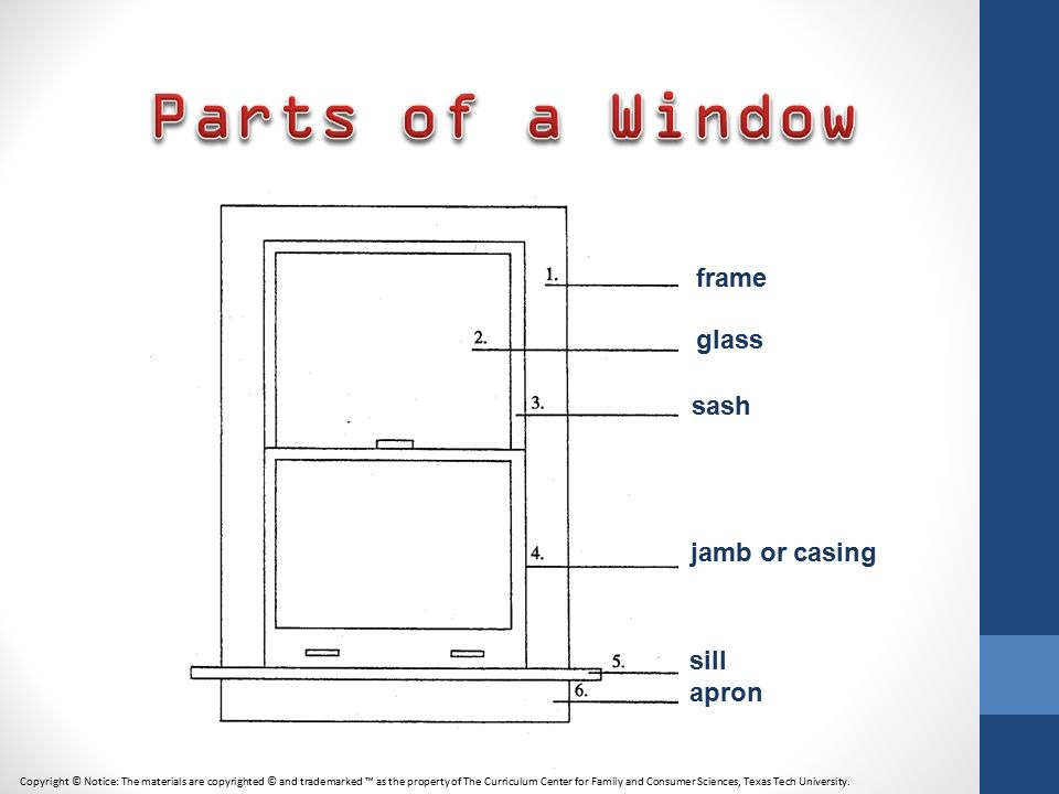 2 parts of a window frame - Window Frame Parts