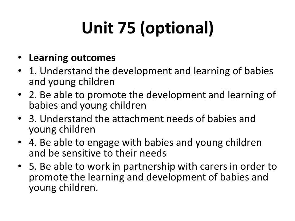 Understand child and young person development.