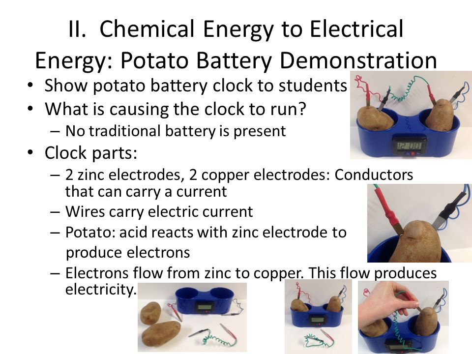 how to get energy from a potato