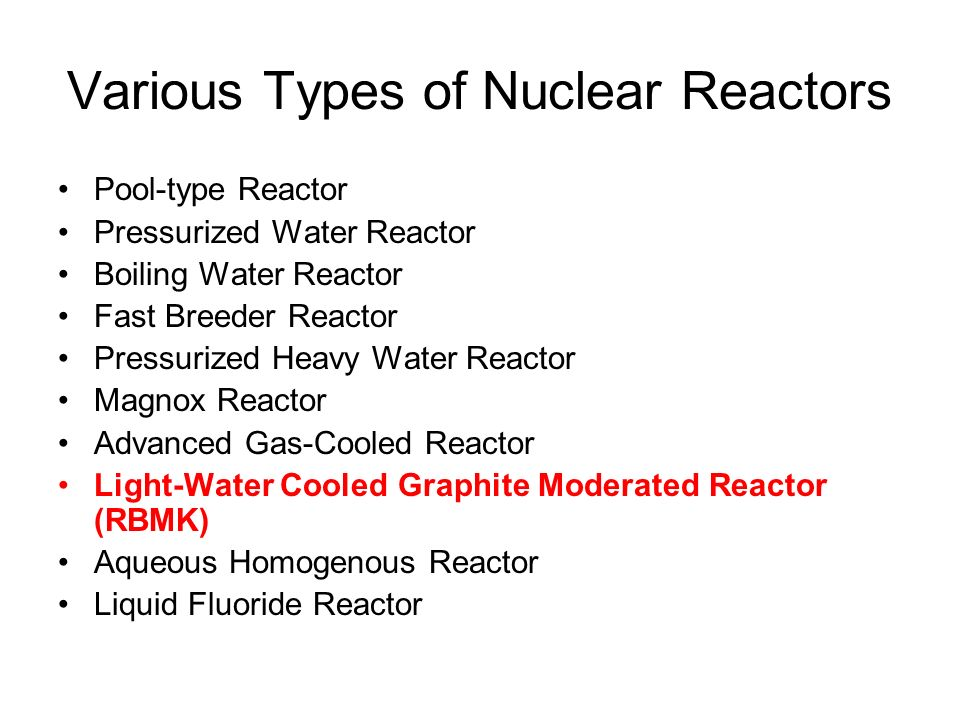 an overview of the two types of nuclear plant generators Section 21 provides an overview of nuclear plant design and operation  the  steam drives a turbine that spins a generator to produce electricity  two types  of light-water reactors have been deployed worldwide for electricity production,.