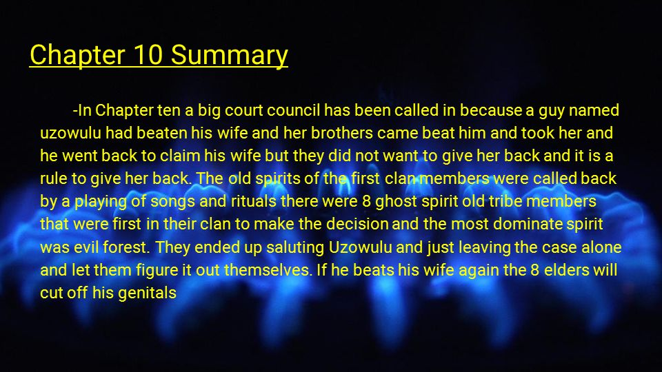 summary of chapter 10 Chapter 10 summary a dead horse is found in the aftermath of the grain fire then two bodies are discovered the neighborhoods have suddenly become clearly demarcated.