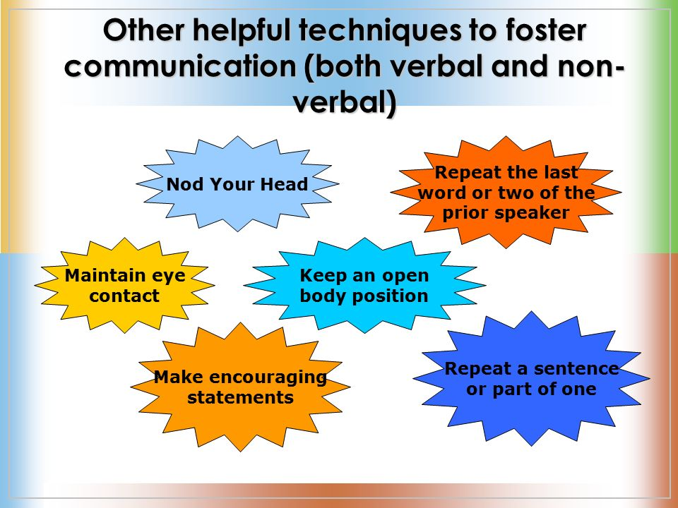 sentence and verbal communication Nonverbal communication is the process of sending and receiving messages without using words, either spoken or written also called manual language similar to the way that italicizing.