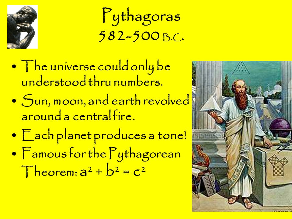 pythagoras a universe made of numbers Pythagoras and the mystery of numbers by kate hobgood pythagoras a series of symbolic forms were constructed to mirror the concepts of the universe.