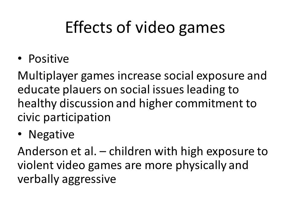 the positive influence of video games The primary purpose of this essay is to describe and discuss the positive influence of video games on children this study also considers the question of how.