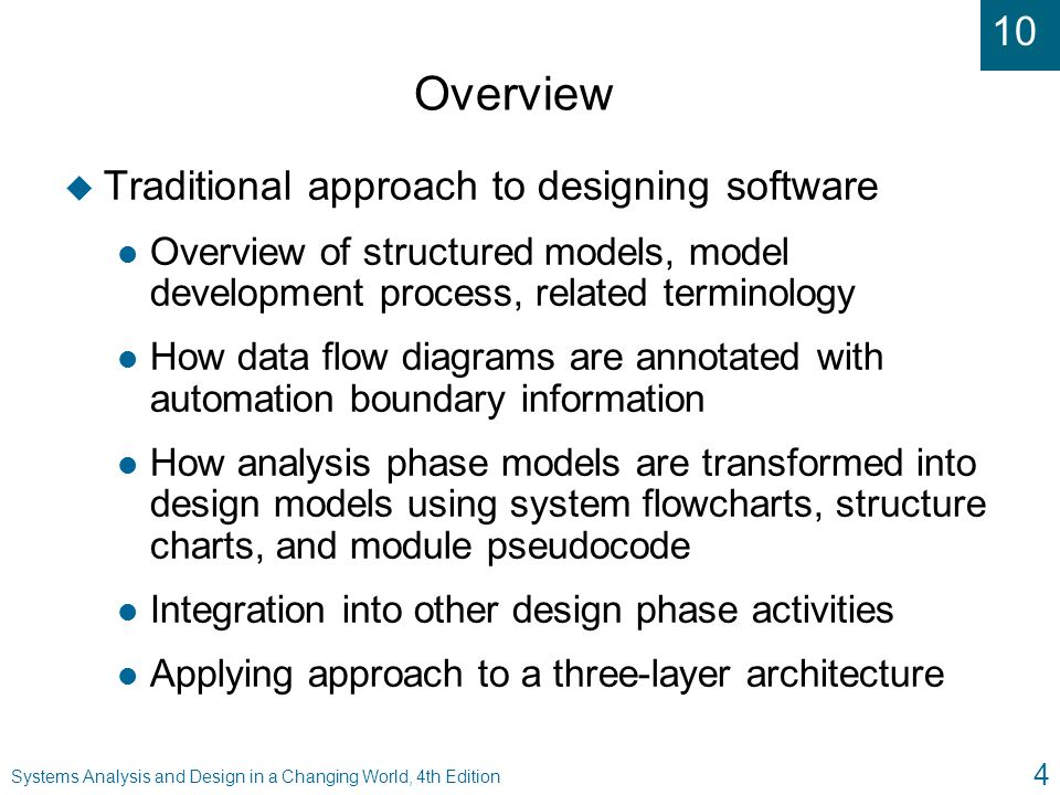 systems analysis and design in a changing world  fourth