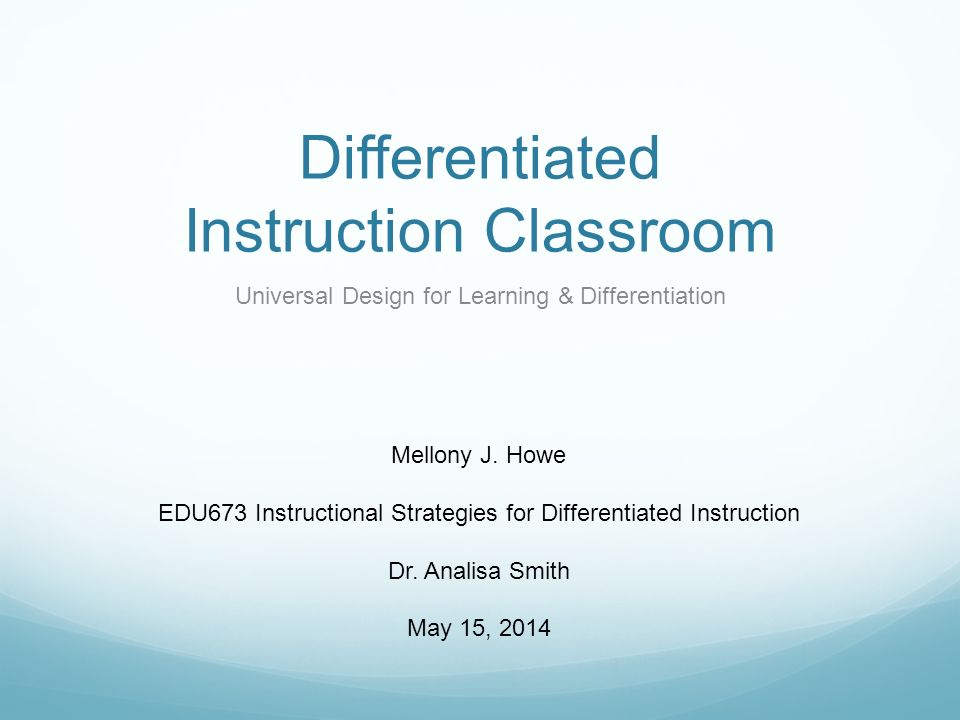Differentiated Instruction Classroom Ppt Video Online Download