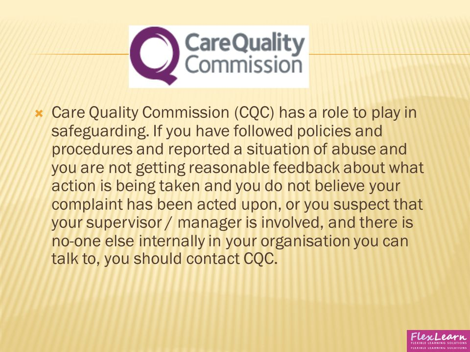 Abuse and care quality commission
