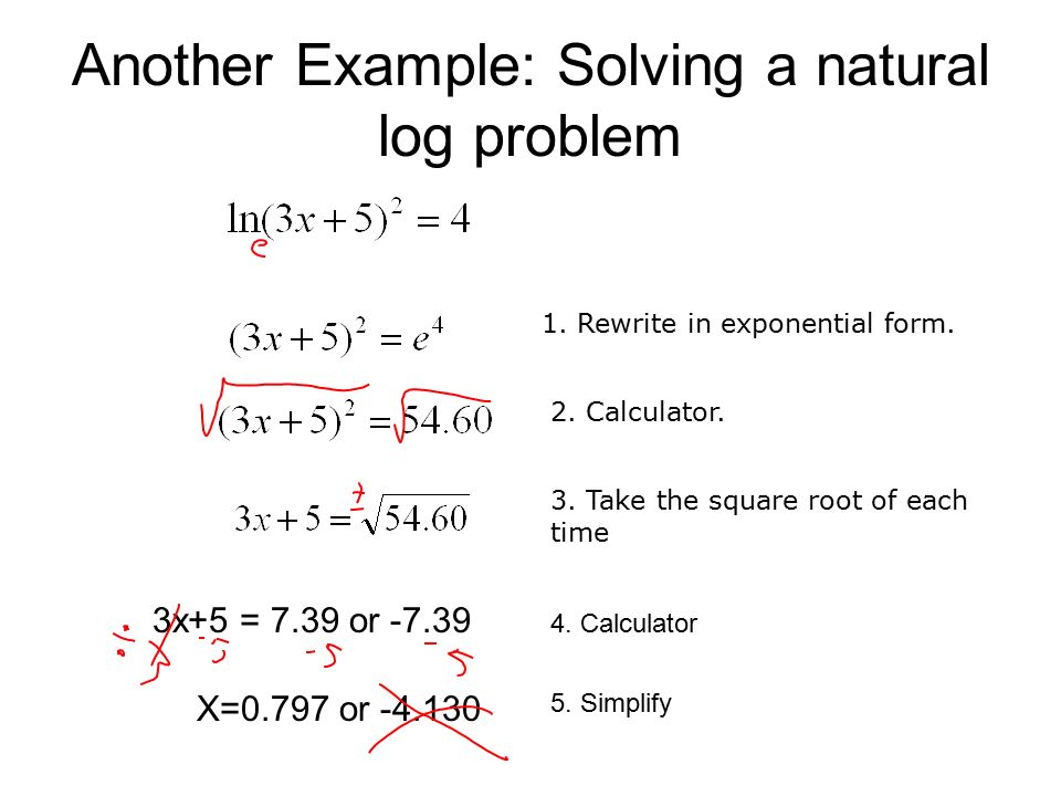 8.6 Natural Logarithms. - ppt video online download