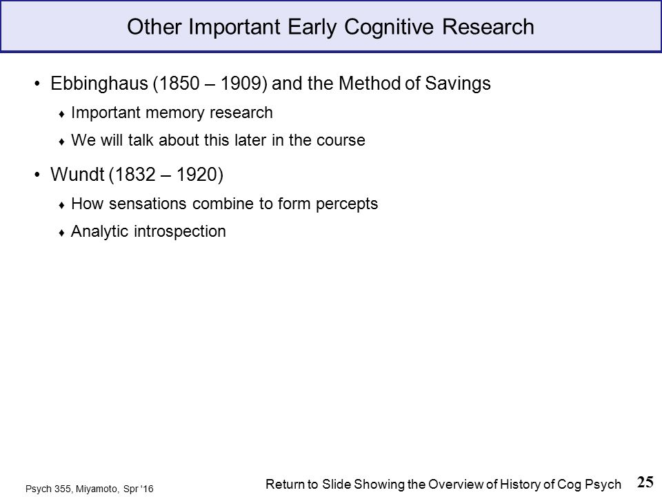 an overview of the history of psychology Psychology (psyc) 375  overview this course examines the history of psychology from the time of the  athabasca university reserves.