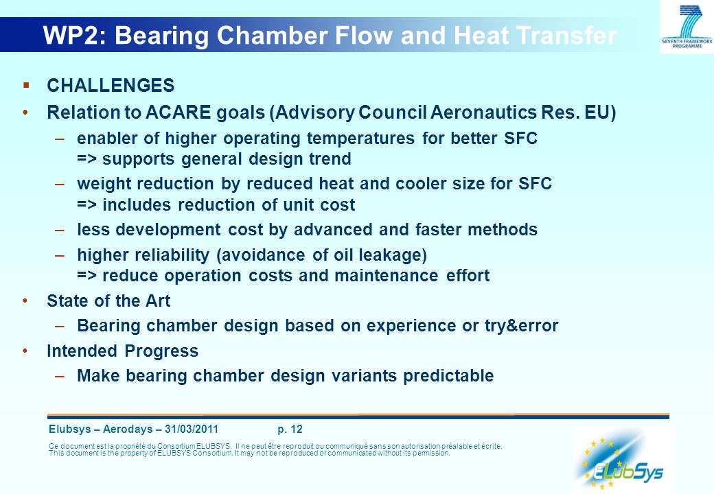 WP2: Bearing Chamber Flow and Heat Transfer