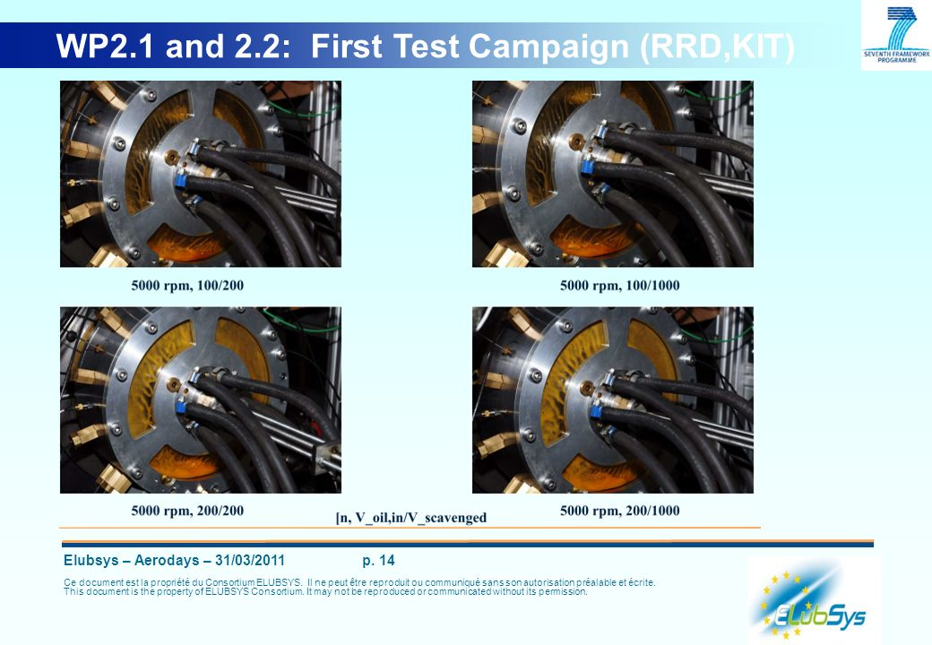 WP2.1 and 2.2: First Test Campaign (RRD,KIT)