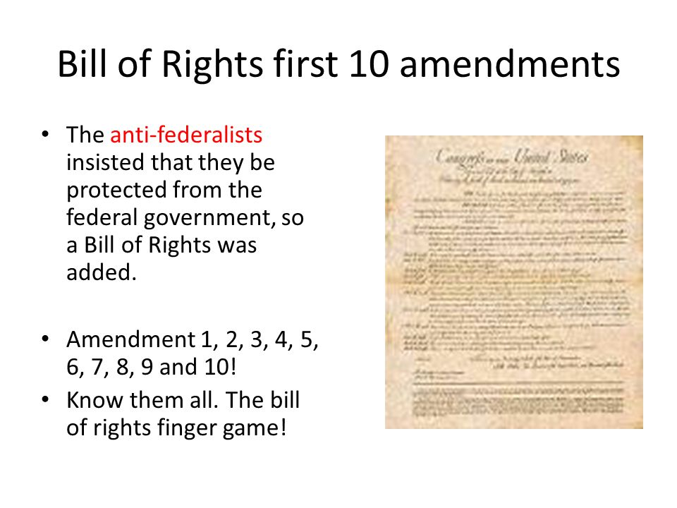 10 Amendments Bill of Rights - Bing images
