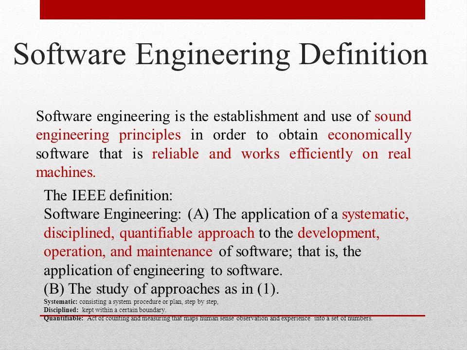 Tcs tit 603 software engineering ppt download for Ieee definition