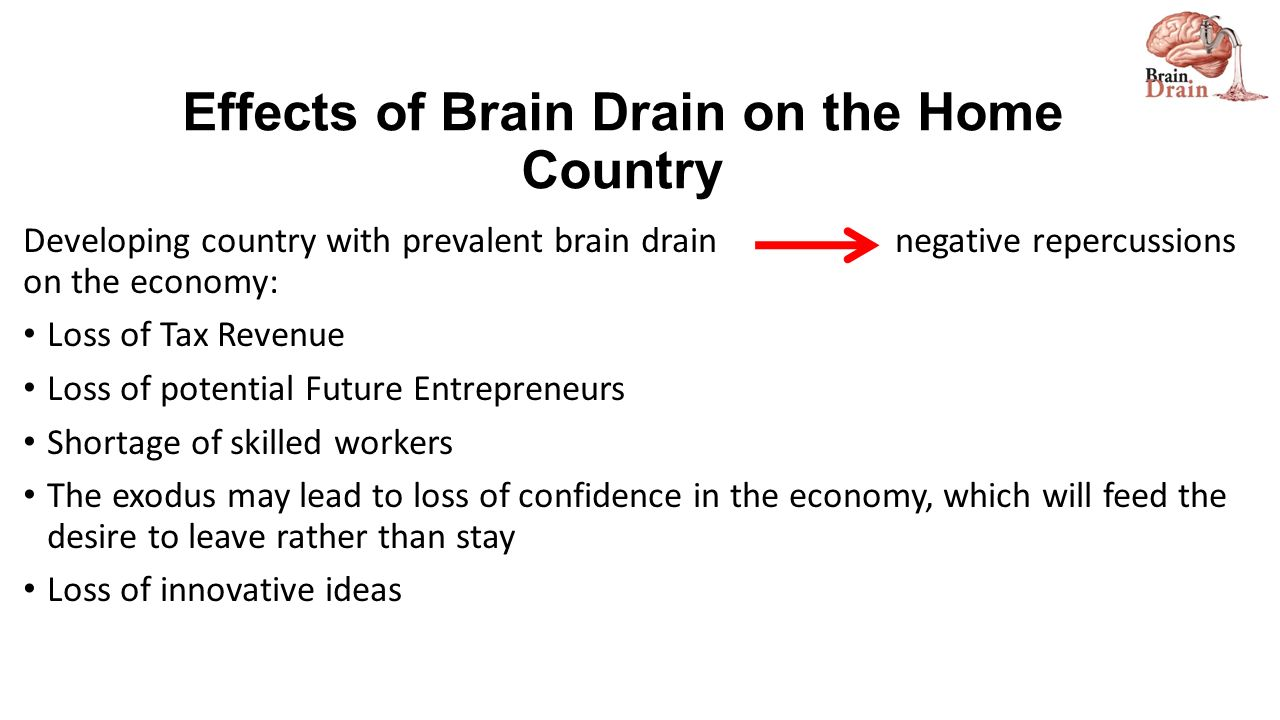 what is brain drain and its causes and effects